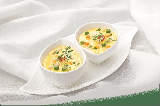 Trứng hấp rau củ