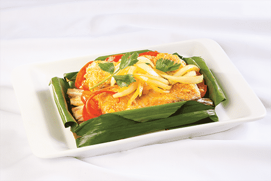 Cá chẽm nướng lá chuối