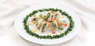 Cá cuộn cải chiên xù