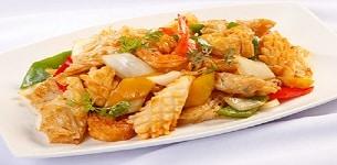 Bánh ướt xào hải sản