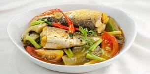 Cá đối kho cải chua