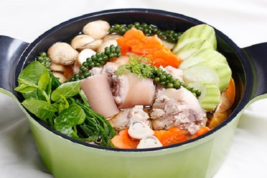 Image result for lau duoi heo tieu xanh