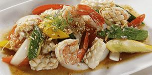 Bí ngòi xào hải sản