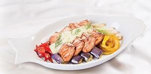 Cá hồi nướng xốt Mayo