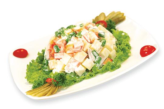 Salad rau củ trộn xốt mayonnaise