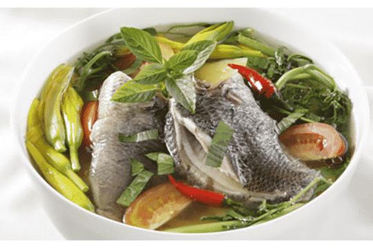Canh cá rô rau nhút