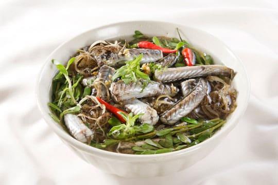 Canh cá kèo rau đắng