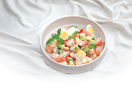 Cách làm món Salad bưởi trộn bơ