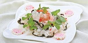 Rong biển trộn nấm tuyết