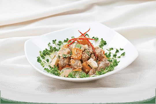 Salad khoai trộn thịt bò