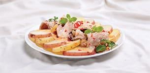 Salad khoai tây trộn bê thui