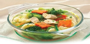 Canh gà nấu bông cải