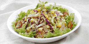 Salad bắp cải xốt mè