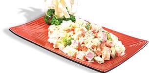Salad bông cải thịt nguội