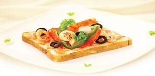 Sandwich nướng hải sản