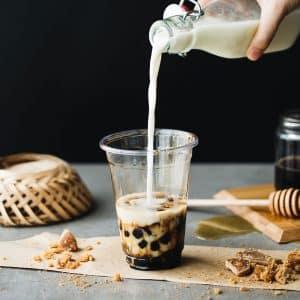 Tự làm sữa tươi trân châu đường đen Hàn Quốc