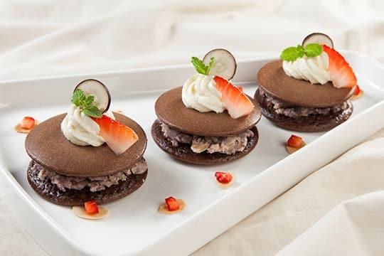 Bánh rán chocolate đậu đỏ