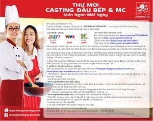 Thông báo casting Đầu bếp và MC cho chương trình MNMN