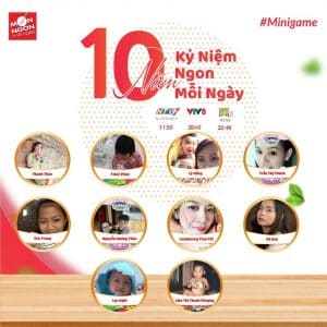 Lộ diện 10 chủ nhân may mắn từ Mini Game nhân dịp 10 năm Kỷ niệm Ngon mỗi ngày