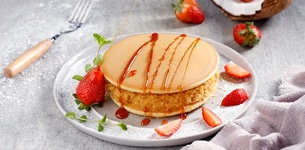 Pancake nhân dừa
