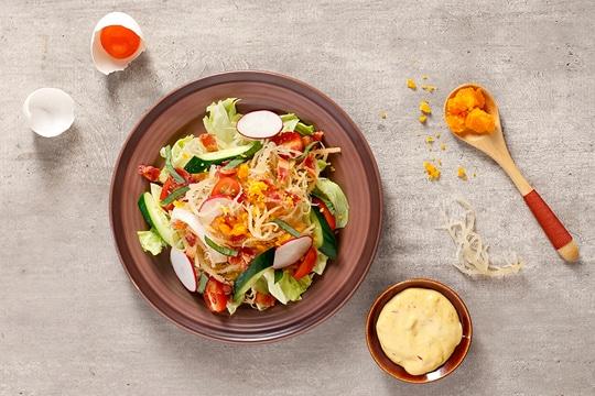 Salad rong sụn trứng muối
