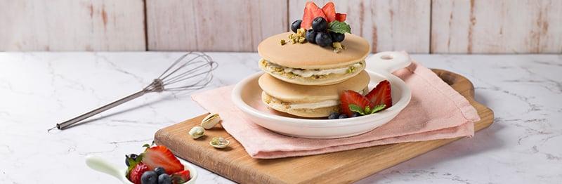 Bánh pancake hạt dẻ cười