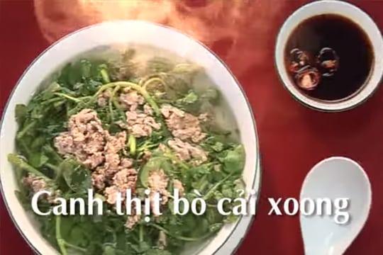 Canh thịt bò cải xoong