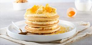 Pancake trứng muối chà bông