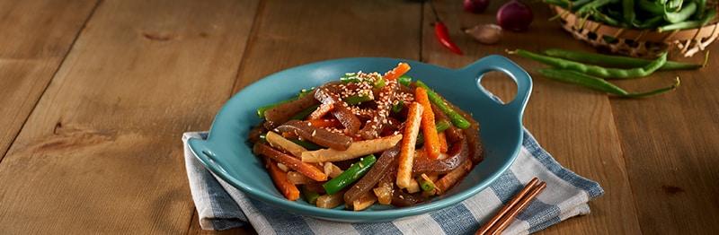 Khoai tây xào thạch konyaku