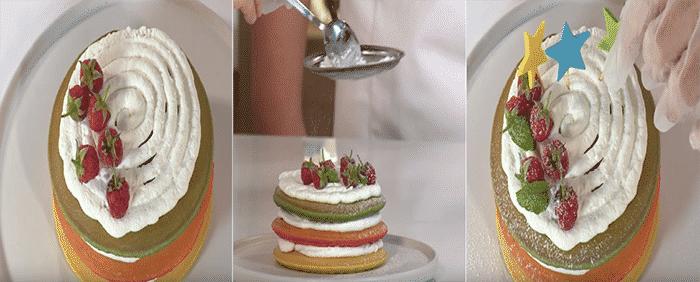 bánh sinh nhật đầy màu sắc