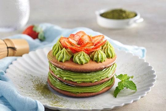 Pancake socola trà xanh