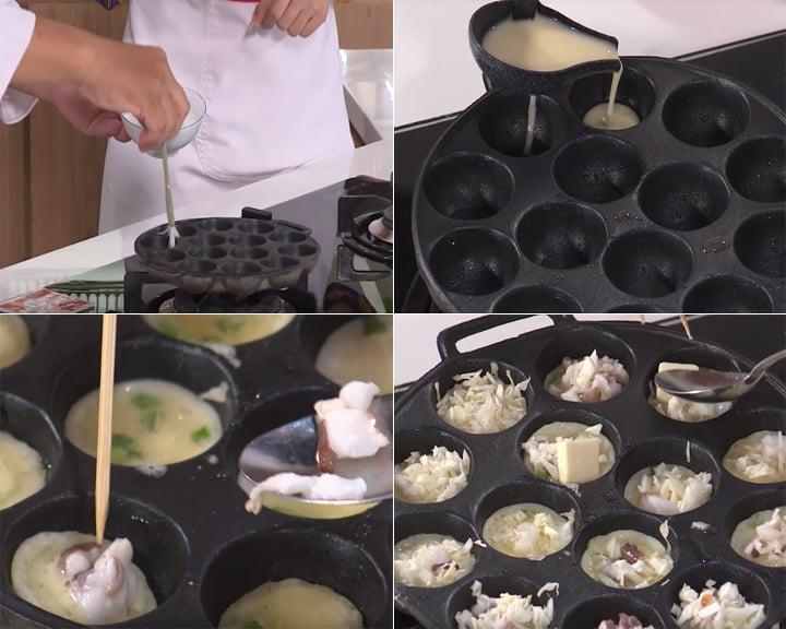 Cách làm Takoyaki - Bước 3