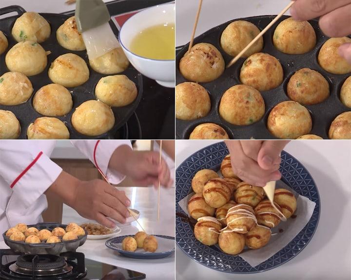 Cách làm Takoyaki - Bước 5