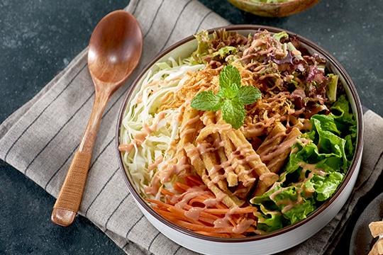 Salad đậu hũ chiên