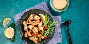 Cá cuộn Jambon chiên