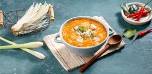 Súp nấm hải sản chua cay