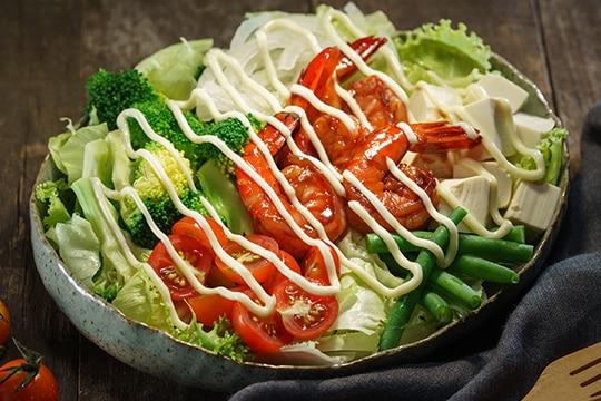 Salad tôm đậu hũ