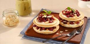 Pancake hạnh nhân đậu đỏ