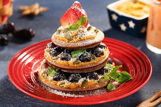 Pancake socola giáng sinh