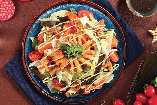 Salad mực ống rong biển