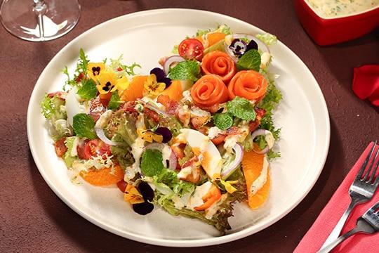 Salad cam cá hồi