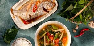Canh cá hanh vị Thái