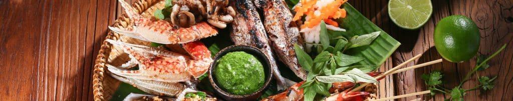 Mẹt hải sản chẩm muối ngò gai