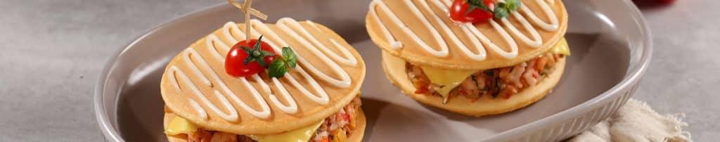 pancake tôm phô mai