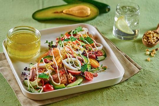 Salad cầu vồng ngày hè