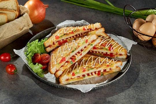 Sandwich nướng trứng xốt Mayonnaise